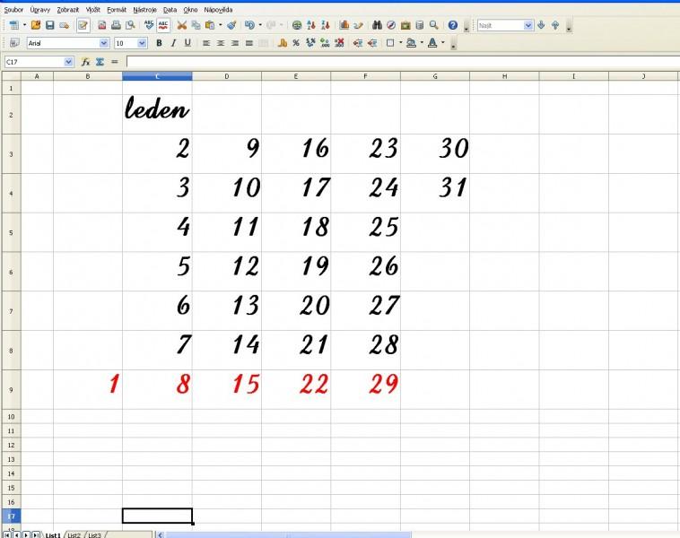 změna textu při výrobě číselníku